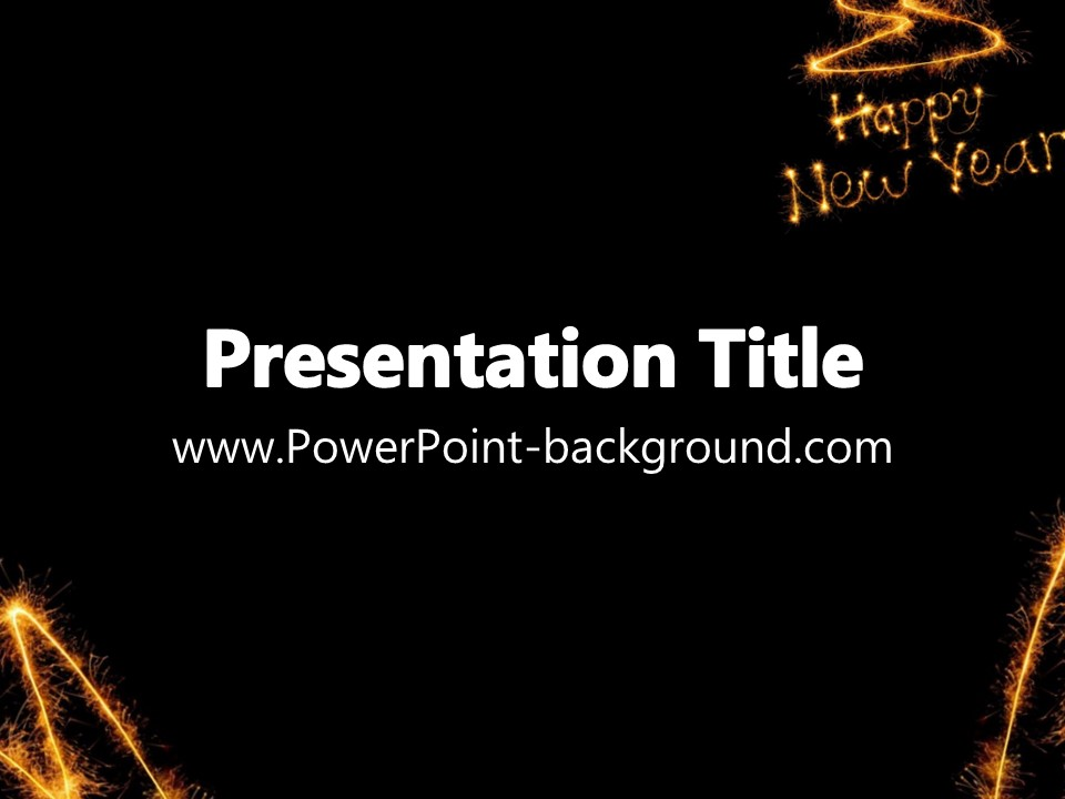 new year powerpoint background template